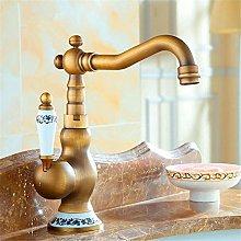 QIMEIM Professional Kitchen Sink Tap Antique Basin