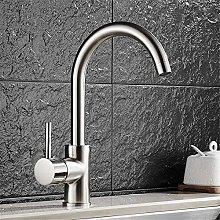 QIMEIM Professional Kitchen Sink Tap Brushed Cold