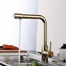 QIMEIM Professional Kitchen Sink Tap Modern Brass
