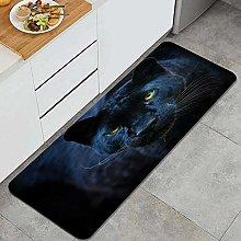 QINCO Anti-Fatigue Kitchen Floor Mat,Black