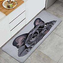 QINCO Anti-Fatigue Kitchen Floor Mat,Face Dog