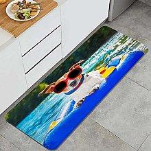 QINCO Anti-Fatigue Kitchen Floor Mat,Funny Jack