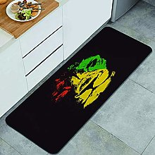 QINCO Anti-Fatigue Kitchen Floor Mat,Green Marley