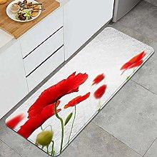 QINCO Anti-Fatigue Kitchen Floor Mat,many red