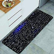 QINCO Anti-Fatigue Kitchen Floor Mat,Math space