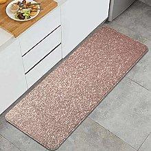 QINCO Anti-Fatigue Kitchen Floor Mat,Pink Rose