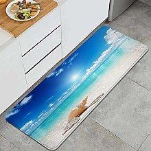QINCO Anti-Fatigue Kitchen Floor Mat,Seashells