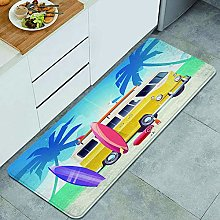 QINCO Anti-Fatigue Kitchen Floor Mat,Summer