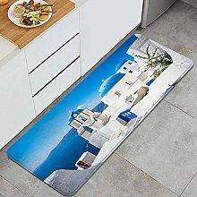 QINCO Anti-Fatigue Kitchen Floor Mat,Sunset Blue