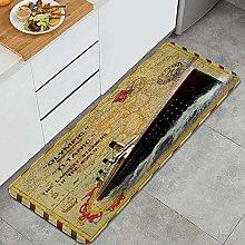 QINCO Anti-Fatigue Kitchen Floor Mat,Vintage