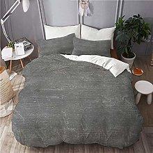 QINCO bedding-Duvet Cover Set,Gray wall