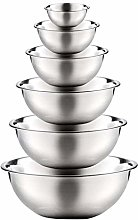 qingqingR 6Pcs Stainless Steel Mixing Bowls