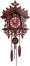 Qingsi 1Pcs Wood Cuckoo Clock Swing Chic Swing