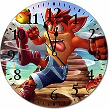 qinhuang C-Rash Ban-dicoot Round Wall Clock Style