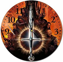 qinhuang Lord Rings Round Wall Clock Style Battery