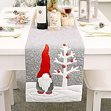 qinjun Christmas Embroidered Table Runner, 70in