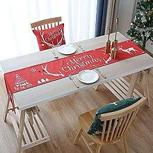 qinjun Christmas Table Runner, Christmas Tree