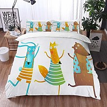 Qinniii Duvet Cover Bedding Sets,Colorful Shirts