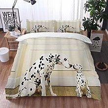 Qinniii Duvet Cover Bedding Sets,Dalmatian Close