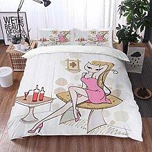 Qinniii Duvet Cover Bedding Sets,Funny Cat Cute