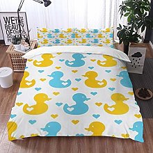 Qinniii Duvet Cover Bedding Sets,Rubber Duck Baby