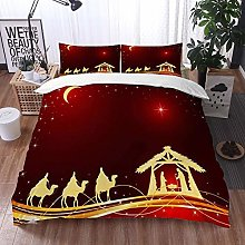 Qinniii Duvet Cover Bedding Sets,Sky Red King
