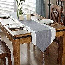 Qinqin666 Width Cotton Linen Tree Pattern Table