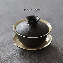 QINS Black Crockery Ceramic Teapot Tea Cup Tea