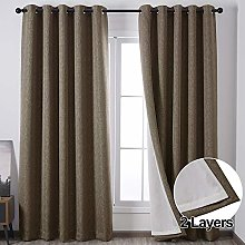 QINUO HOME 2 Layer Linen Effect Machine Washable