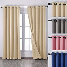 QINUO HOME Blackout Curtains 90x90 - Theraml