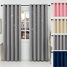 QINUO HOME Blackout Curtains for 90-inch Wide x