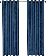 QINUO HOME Curve Jacquard Lined Curtains Thermal