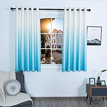 QINUO HOME Lined Eyelet Printing Sky Curtains -