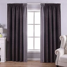 QINUO HOME Room Darkening Grey and Silver Splicing