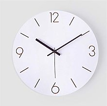 QioJu-CLOCKS White Wall Clock, Silent Wall Clock,