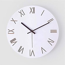QioJu-CLOCKS White Wall Clock, Silent Wall Clock,