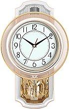 QIOQIO Retro Wall-Mounted Pendulum Clock,