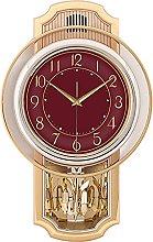 QIOQIO Retro Wall-Mounted Pendulum Clock with