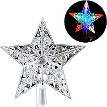 Qirun Christmas Tree 6.69Inch LED Light Star Decor