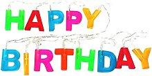 Qirun String Lighting Happy Birthday Letters LED
