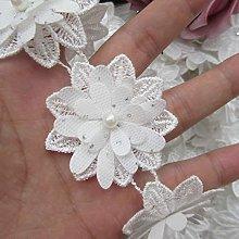 Qiuda 15pcs Flower with Pearl Beads Rhinestone