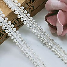Qiuda 2 Yard 1/2 inch/Half inch Pearl Lace Trim