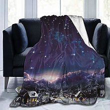 QIUTIANXIU Throw Blanket 150 x 200 cm,Starry Night