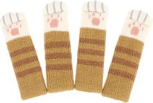 qiuxiaoaa 4Piece Cat Non-slip Sock Pet Mute Wear