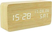 QIXIAOCYB Creative wooden alarm clock Bedroom