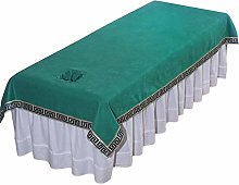 QIZIFAFA Beauty Massage Bed Cover with Hole,