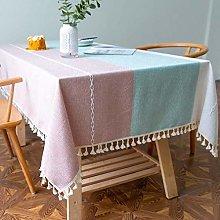 QIZIFAFA Embroidery Table Cloth, Cloths Wrinkle