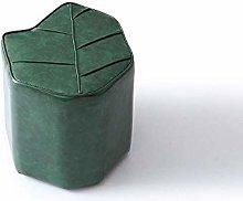 QJFJD Footstool, Creative Shoe Bench, Leaf Shape,
