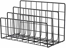 QJJ Popular Iron Grid Bookshelf Ladder Type Book