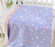QKDSDM Muslin Baby Blanket Purple Fawn Super Soft